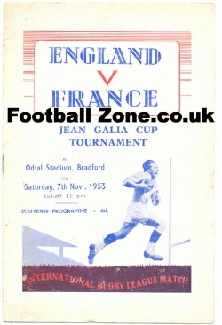 England Rugby v France 1953 - Jean Galia Cup Tournament