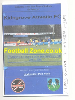 Kidsgrove Athletic v Stocksbridge Park Steels 2008