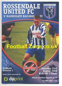Rossendale United v Harrogate Railway 2008