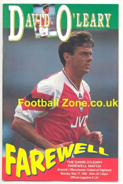 Arsenal v Man Utd 1993 - David O'Leary Farewell Last Game