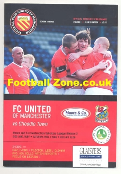 FC United Of Manchester v Cheadle Town 2006