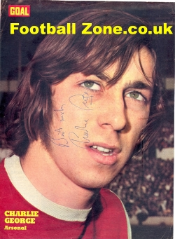 Arsenal Charlie George Signed Picture 1972