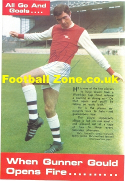 Arsenal Bobby Gould Signed Picture 1970