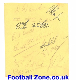 Hyde United AFC Multi Autographs 1950's