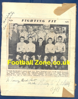 Boxing - Billy O'Doherty Boxing Autograph 1950's