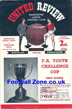 Manchester United v Morecambe 1959 - Youths Cup 14 - 0