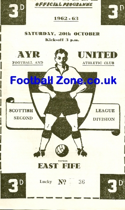 Ayr United v East Fife 1962