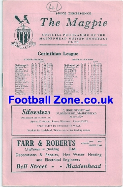 Maidenhead United v Wokingham Town 1962 - Semi Final