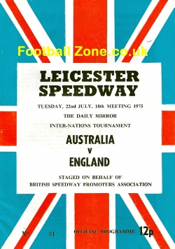 England Speedway v Australia 1975 - at Leicester