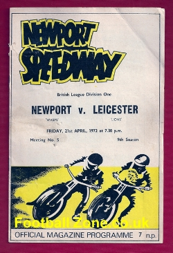 Newport Speedway v Leicester 1972