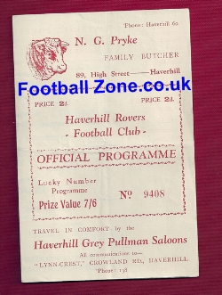 Haverhill Rovers v Brantham 1949 - Essex Border League
