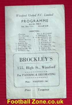 Winsford Town v Tranmere Rovers 1948
