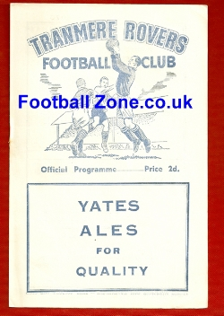 Tranmere Rovers v Winsford United 1954 - Reserves Match