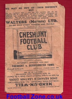 Cheshunt v Berkhamsted Town 1954