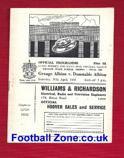 Grange Albion v Dunstable Albion 1966 - Cup Final At Luton