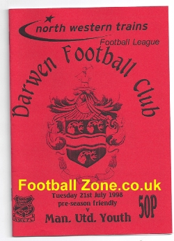 Darwen v Man Utd 1998 - Pre Season Friendly