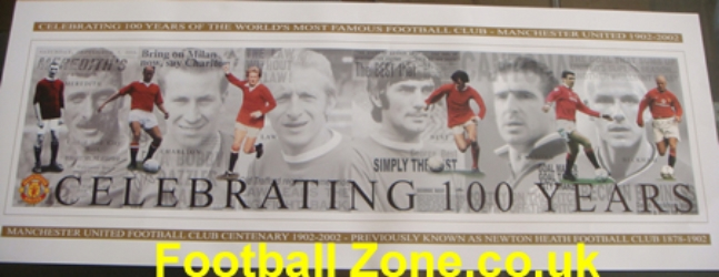 1 Manchester United 100 Years Special Legends - Massive Poster