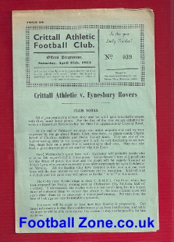 Crittall Athletic v Eynesbury Rovers 1953