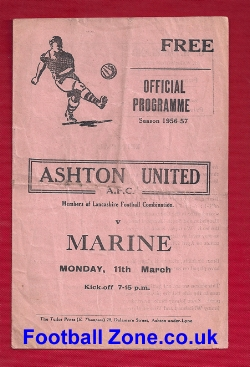 Ashton United v Marine Athletic 1957