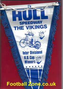 Hull Speedway Pennant - The Vikings - Cup Winners