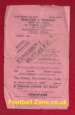 Eynesbury Rovers v Holbeach United 1956