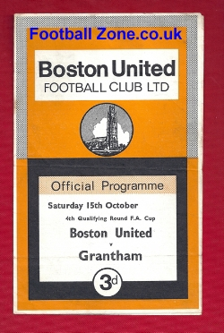 Boston United v Grantham Town 1966 - FA Cup Qualifying