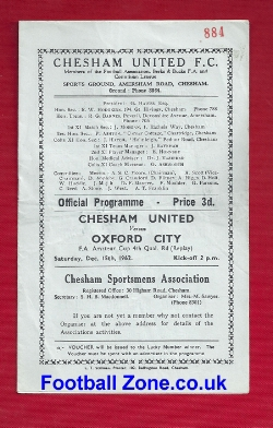 Chesham United v Oxford City 1962 - FA Amateur Cup