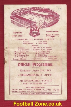 Chelmsford City v Chingford Town 1949 - Essex Cup Match