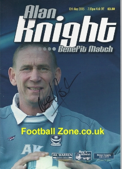 Alan Knight Testimonial Benefit Match Portsmouth 2005 - Signed