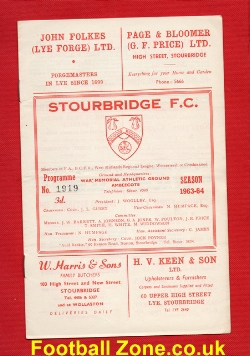 Stourbridge v Bedworth Town 1963