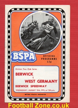 Berwick Speedway v West Germany 1973 - Club Series