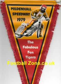 Mildenhall Speedway Pennant 1979 - Fabulous Fen Tigers