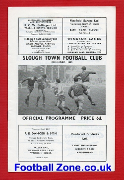 Slough Town v Hertford Town 1968 - Mithras Cup