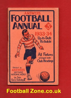 Answers Football Handbook 1933 - 1934
