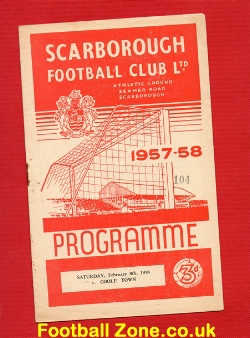 Scarborough v Goole Town 1958