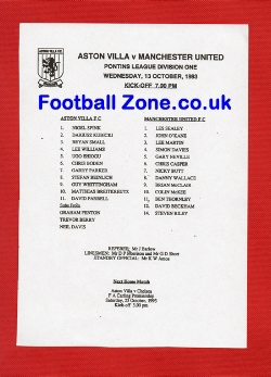 Aston Villa v Man Utd 1993 - Reserves - David Beckham