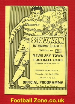 Newbury Town v Letchworth Garden City 1984