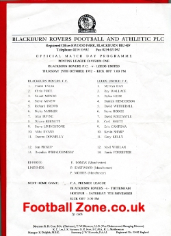 Blackburn Rovers v Leeds United 1992 - Reserves - Eric Cantona
