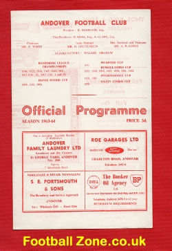 Andover v Netley Sports 1963 - Print Error + Sheet