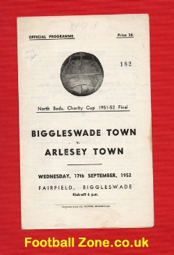 Biggleswade Town v Arlesey Town 1952 - Charity Cup Final