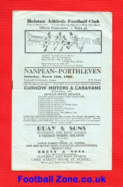 Nanpean v Porthleven 1960 at Helston Athletic