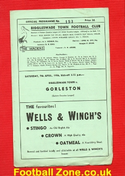 Biggleswade Town v Gorleston 1956 - Eastern Counties League