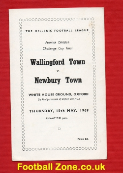 Wallingford Town v Newbury Town 1969 - Cup Final