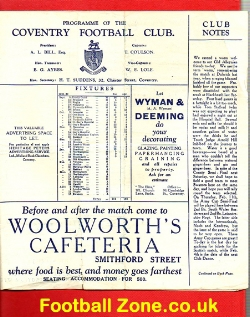 Coventry Rugby v Old Alleynians 1932