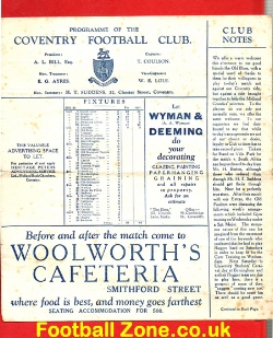 Coventry Rugby - Combined Blues Rugby v Old Blues 1931