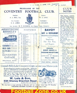 Coventry Rugby v Old Alleynians 1930