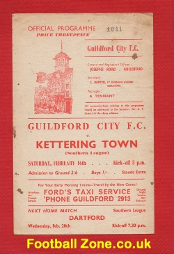 Guildford City v Kettering Town 1962