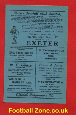 Chester City v Exeter City 1962
