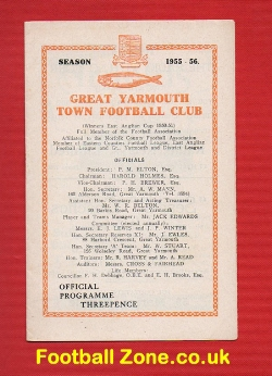 Yarmouth Town v Eynesbury 1955 - Eastern Counties League