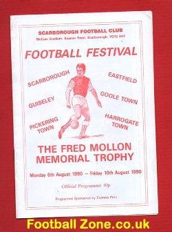 Fred Mollon Memorial Trophy Benefit Match Scarborough 1990